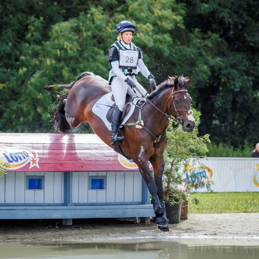 GBR-Coral Keen rides Wellshead Fare Opposition during the CICO3* Nations Cup Cross Country. 2018 POL-Strzegom International Horse Trial. Saturday 30 June. Copyright Photo: Libby Law Photography